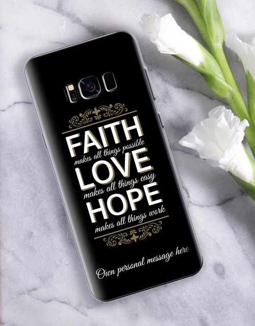 new-years: Personalised Faith Samsung Cover!