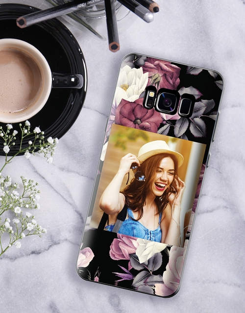 personalised: Personalised Floral Photo Samsung Cover!