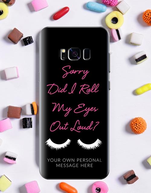 personalised: Personalised Eyeroll Samsung Cover!