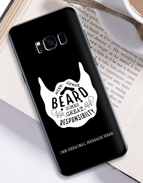 prices: Personalised Beard Samsung Cover!