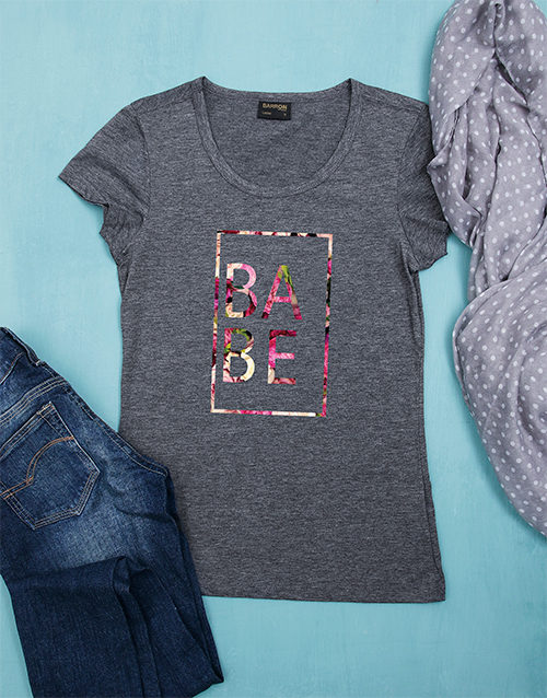 clothing: Floral Babe Tshirt!