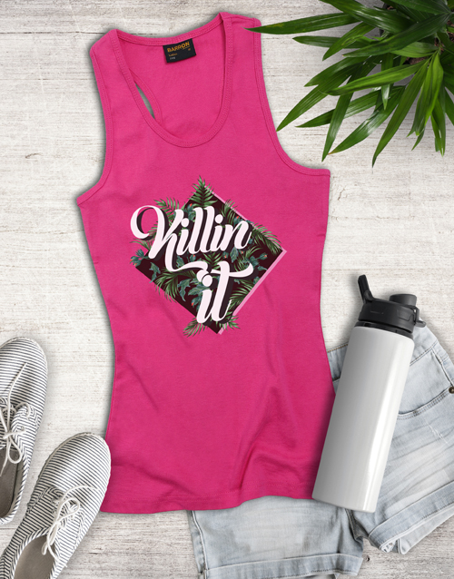 gifts: Pink Killing It Shirt for Ladies!