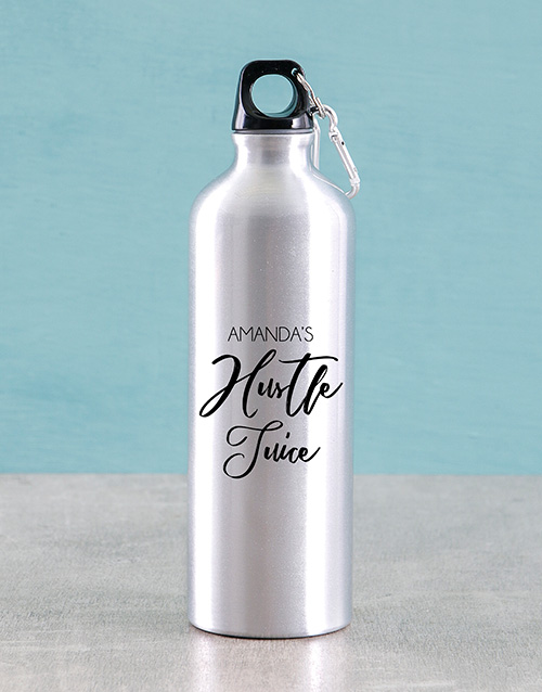 new-years: Personalised Hustle Juice Water Bottle!