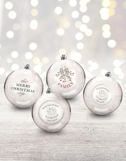 christmas: Personalised In Loving Memory Baubles!