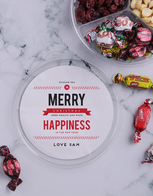 christmas: Personalised Festive Happiness Nut Tub!