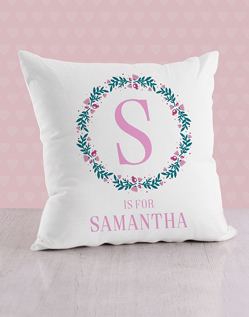 baby: Personalised Initial in Flora Baby Scatter Cushion!