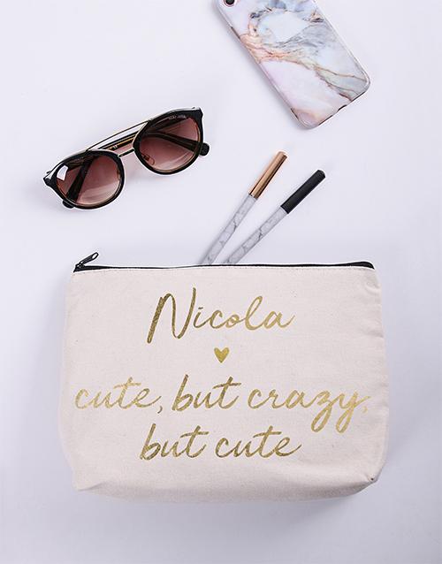 christmas: Personalised Cute Cosmetic Bag!