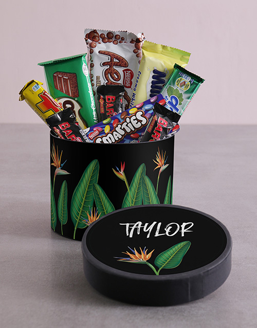 personalised: Personalised Paradise Hat Box with Treats!