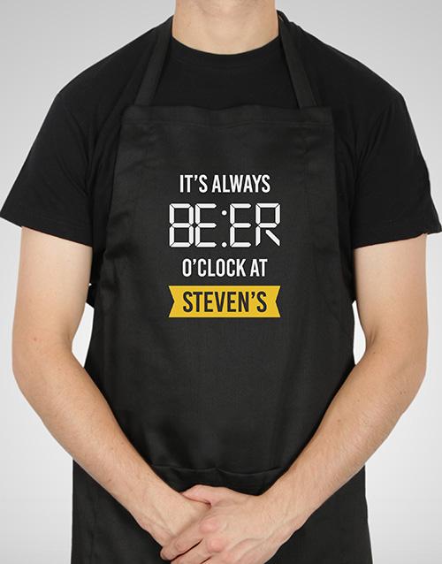 personalised: Personalised Beer Time Apron!