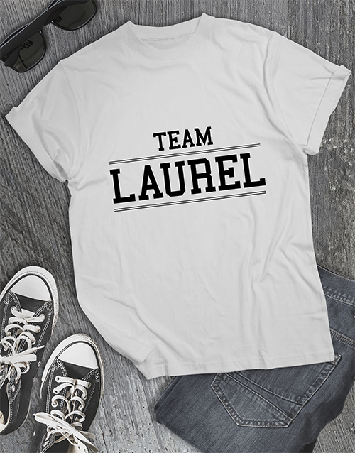 clothing: Team Laurel Shirt!