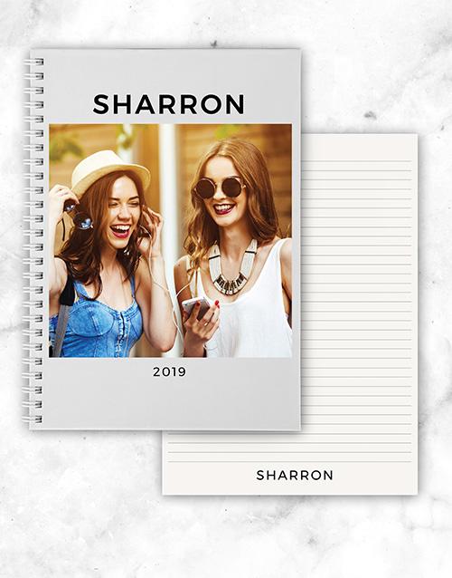 anniversary: Personalised Photo Year Notebook!
