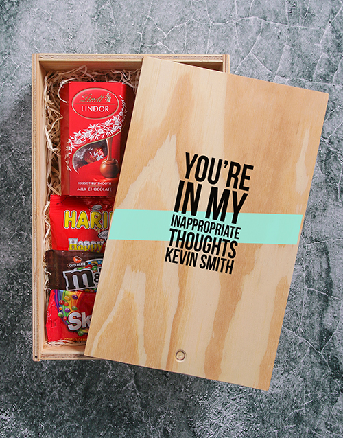 gourmet: Personalised Thoughts Man Crate!