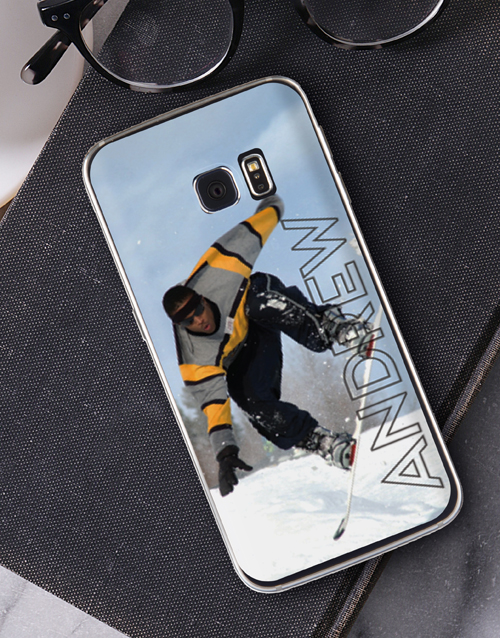 personalised: Personalised Ghost Text Photo Samsung Cover!