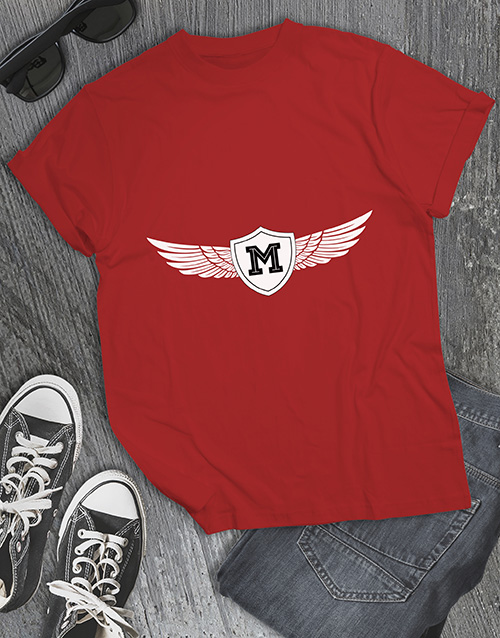 valentines-day: Personalised Winged Initial T Shirt !