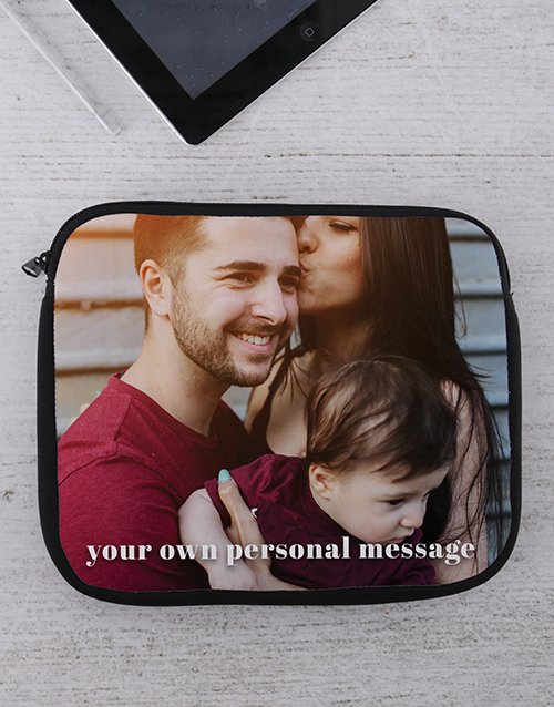 bosses-day: Personalised Photo Tablet or Laptop Sleeve!