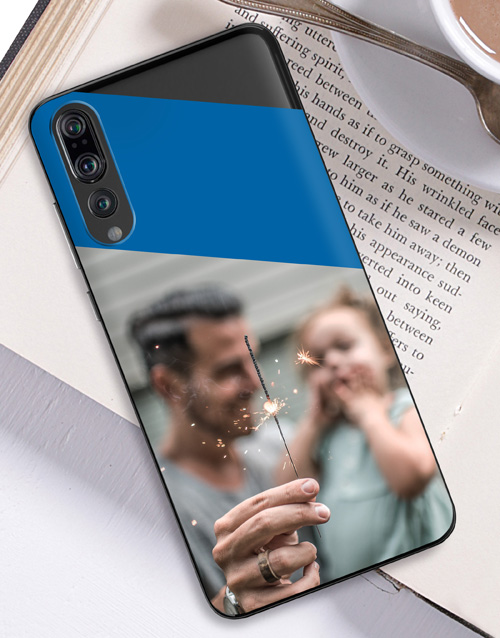 personalised: Personalised Colour Block Photo Huawei Cover!