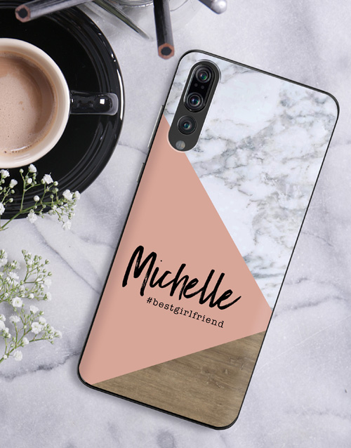gadgets: Personalised Blush Marble Huawei Cover!