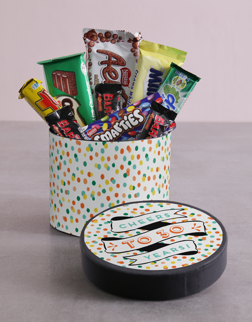 personalised: Personalised Confetti Cheers Hat Box!
