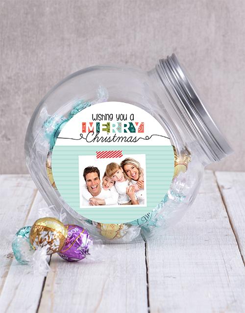 christmas: Personalised Photo Christmas Candy Jar!
