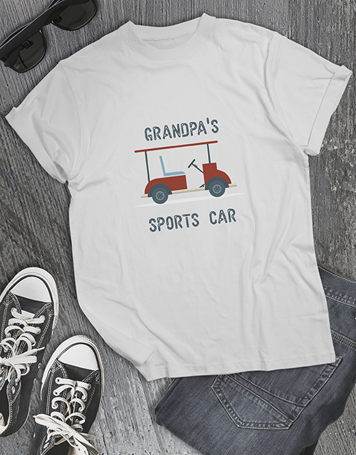 clothing: Personalised Grandpa Golf Cart Shirt!