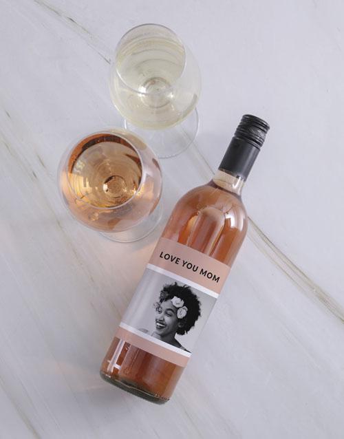 personalised: Personalised Vintage Pink Photo Wine!