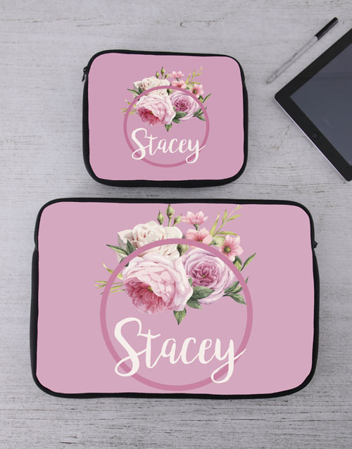 bosses-day: Personalised Roses Tablet or Laptop Sleeve!