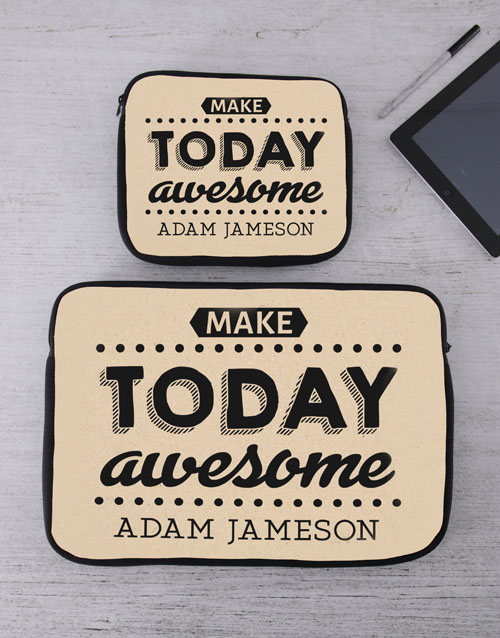 bosses-day: Personalised Awesome Tablet or Laptop Sleeve!