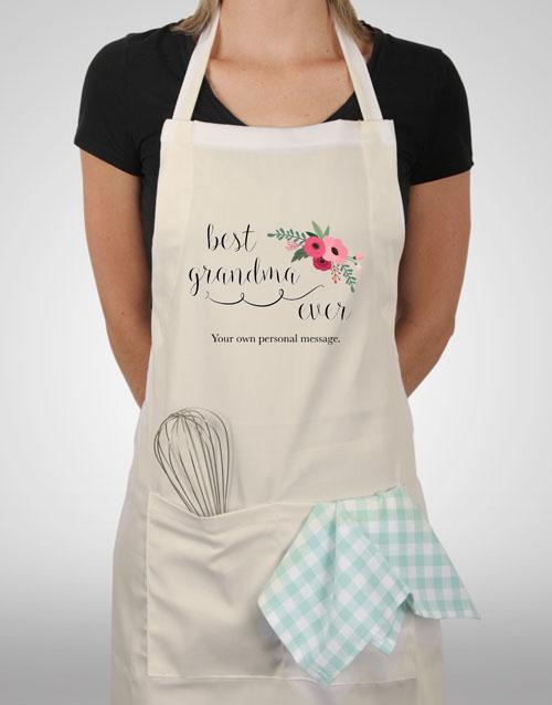 personalised: Personalised Best Grandma Ever Apron!