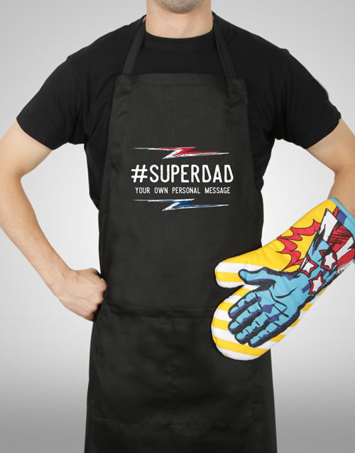 homeware: Personalised Super Dad Apron!