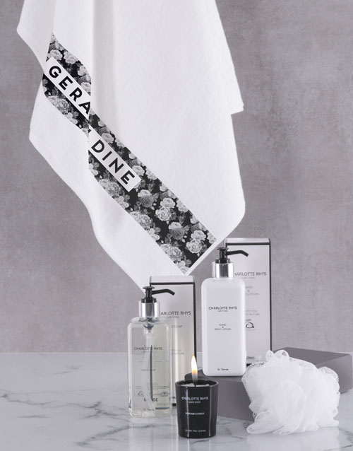 mothers-day: Personalised Charlotte Rhys Towel Gift Set!