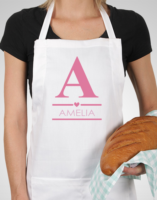 christmas: Personalised Pink Heart Apron!