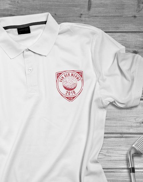 clothing: Personalised Golfing Ball Badge Polo Shirt!