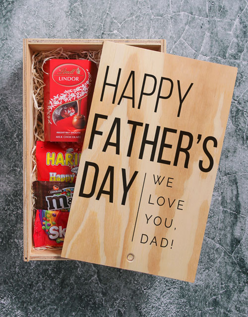 gourmet: Personalised Fathers Day Printed Man Crate!