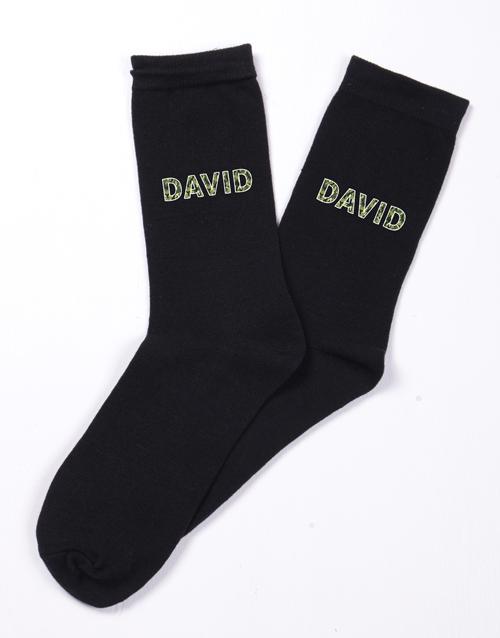 gifts: Personalised Camo Socks!