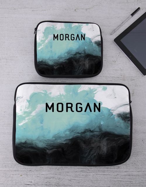bosses-day: Personalised Watercolour Tablet or Laptop Sleeve!