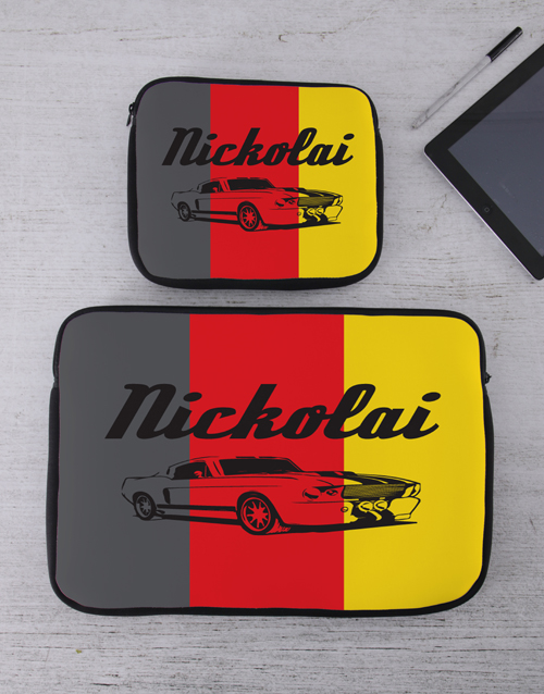 bosses-day: Personalised Retro Car Tablet or Laptop Sleeve!
