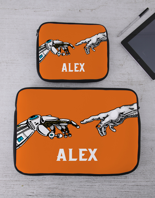 bosses-day: Personalised Hands Tablet or Laptop Sleeve!