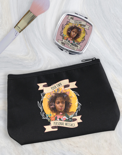 christmas: Personalised Photo Cosmetic Bag!