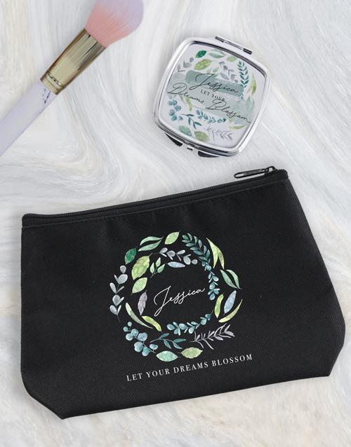 christmas: Personalised Blossom Cosmetic Bag!