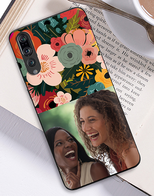 gadgets: Personalised Photo Floral Huawei Cover!