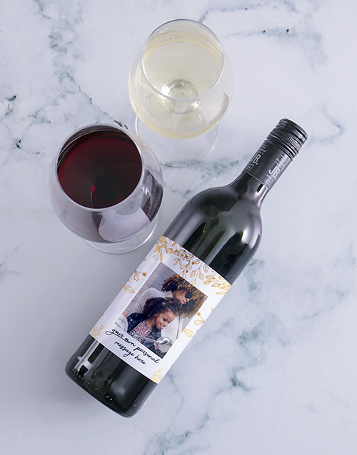 mothers-day: Personalised Gold Leaf Photo Wine!