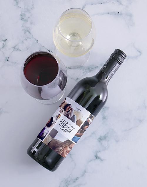 personalised: Personalised Collage Photo Wine!