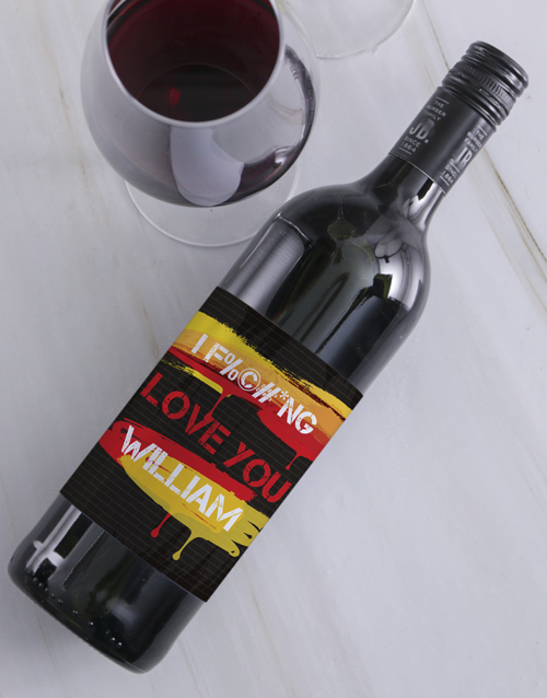 fine-alcohol: Personalised Fiery Love Wine!