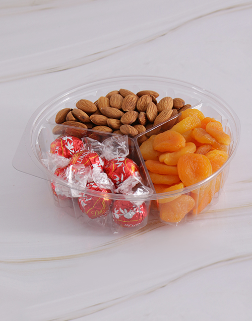 gourmet: Chocolate with Fruit and Nut 385g Snack Tub !