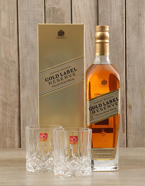christmas: Johnnie Walker Gold & Crystal Glasses!