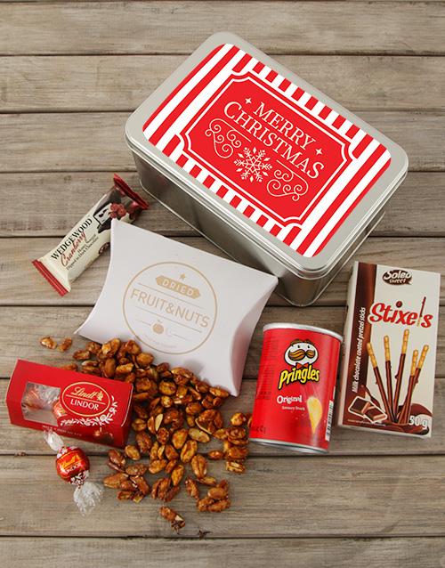 christmas: Red Christmas Snack Tin !