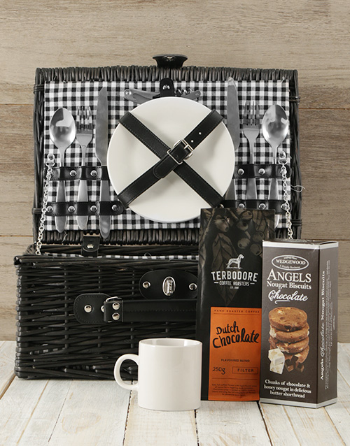 gifts: Coffee Lovers Picnic Basket!