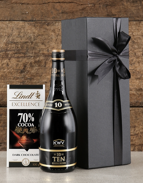 grandparents-day: Black Box of KWV Brandy!