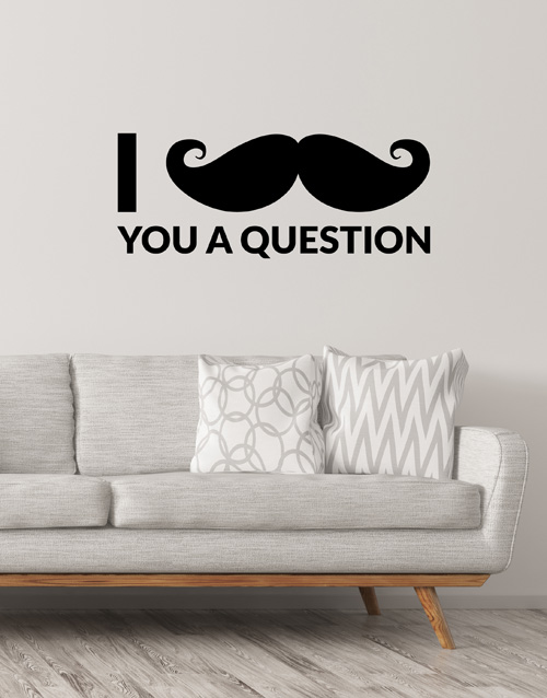 prices: Mustache You A Question Wall Vinyl!