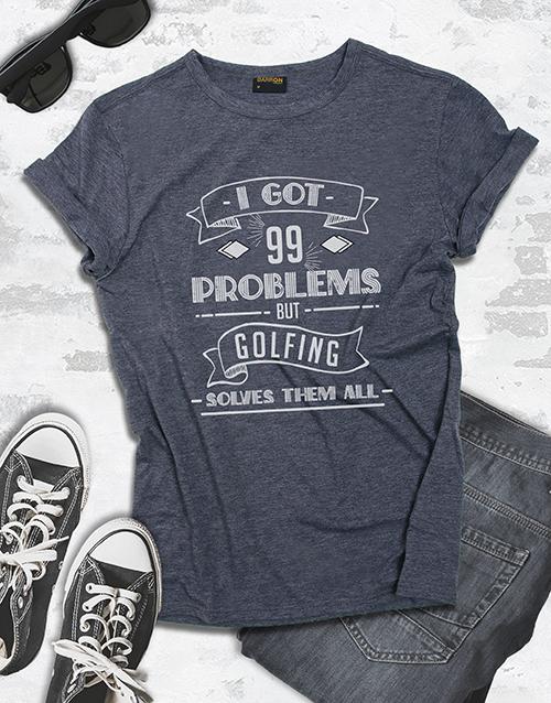 clothing: Golfing Solves My Problems Shirt!